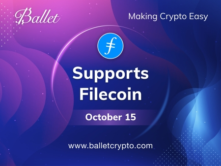 Ballet cryptocurrency wallets now support filecoin
